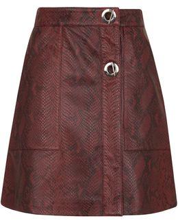 Bryony Snake Leather Skirt