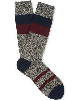 Stripe Cotton-blend Socks