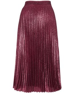 Kitty Metallic Pleated Skirt