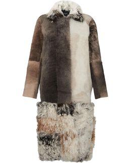 Patchwork Sheepskin Coat