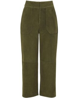 Magda Suede Wide Trouser