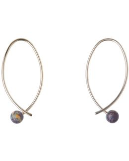 Stone Curve Wire Earring