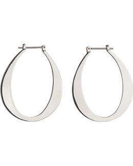 Large Oval Hoop Earring