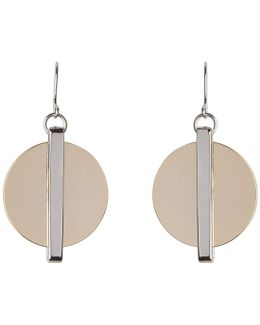 Disc And Bar Statement Earring