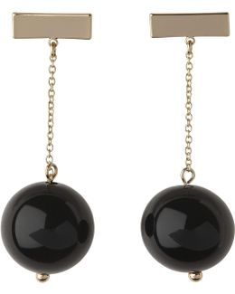 Sphere Chain Drop Earring