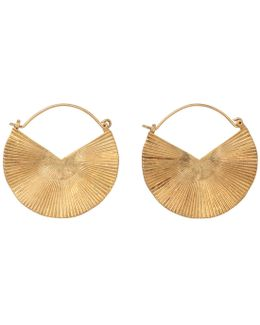 Textured Fan Hoop Earring