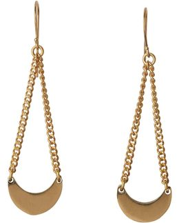 Made Curve Chain Drop Earring