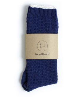 Form And Thread Textured Socks
