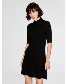 Cashmere Ribbed Swing Dress