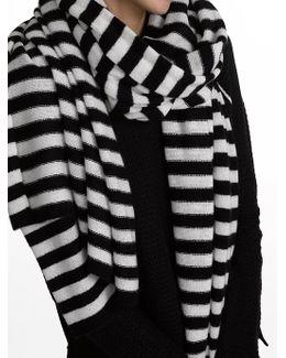 Cashmere Stripe Travel Wrap