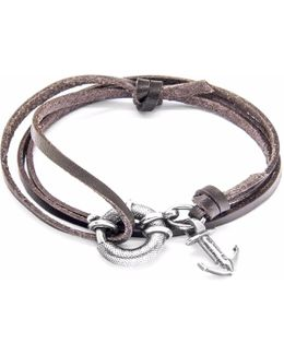 Light Brown Dundee Silver & Leather Bracelet