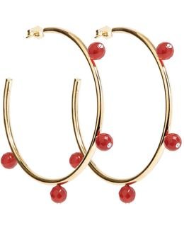 Oh So Pretty Hoops Gold & Red