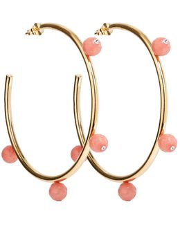 Oh So Pretty Hoops Gold & Pink