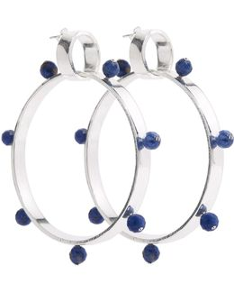 I Have A Love Hoops Silver & Blue