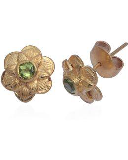 Gypsy Rose Peridot Stud Earrings