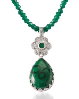 Gypsy Rose Malachite Pendant