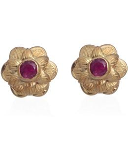 Gypsy Rose Pink Tourmaline Stud Earrings
