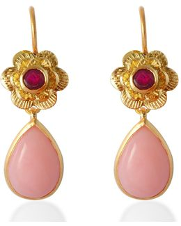 Gypsy Rose Pink Opal Earrings