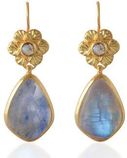 Adila Moonstone Drop Earrings
