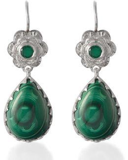 Gypsy Rose Malachite Earrings