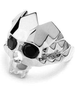 Vampire Skull Ring Silver