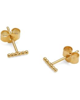 Gold Mini Ball Stud Earrings
