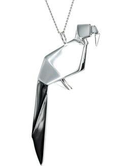 Parrot Necklace Silver