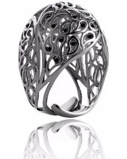 Shikhara Ruthenium Dome Ring Spinel