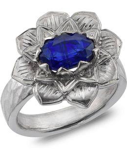 Lotus Kyanite Ring