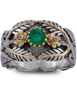 Ava Emerald Ring