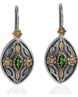 Madison Tsavorite & Diamond Earrings