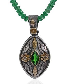 Madison Tsavorite & Diamond Pendant