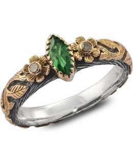 Madison Tsavorite & Diamond Ring