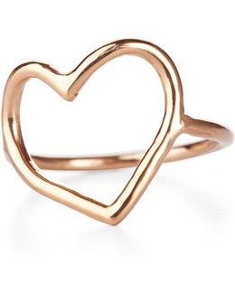 My Heart Is Open Ring Solid Gold