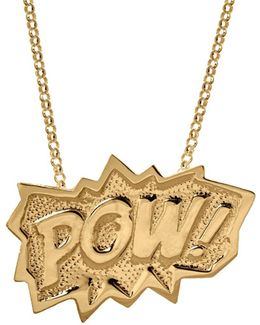 Pow Pendant Extra Large Long In Gold