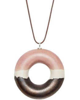 Radiant Syrup Doughnut Pendant Necklace