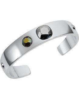 Narrow Cuff Silver Chrome