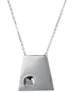 Geo Pendant Silver Chrome