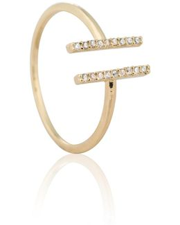 Chase Me Double Bar Ring In Gold