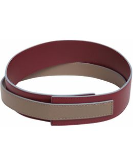 Easy To Love Leather Shoulder Strap Maroon-taupe