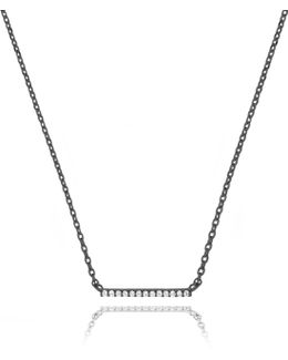 Walk The Line Big Bar Necklace In Gunmetal