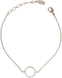Tuxedo Circle Bracelet In Gold