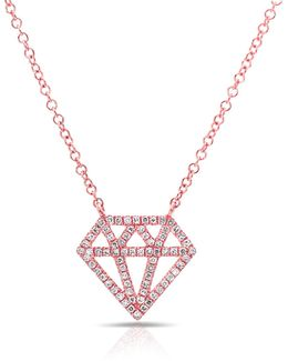 Rose Gold Bling Diamond Necklace