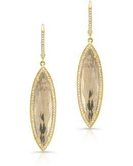 Yellow Gold Diamond Serena Earrings