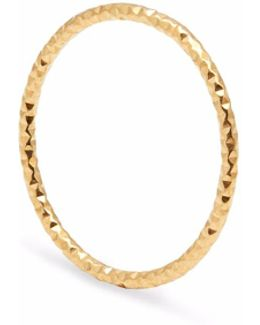 Gold Skinny Diamond Faceted Stacking Ring
