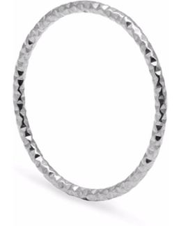 Silver Skinny Diamond Faceted Stacking Ring