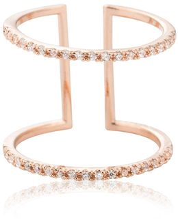 Double Bewitched Ring In Rose Gold