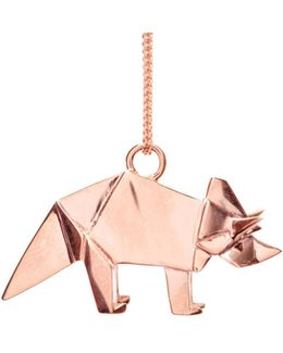 Triceratop Necklace Rose Gold