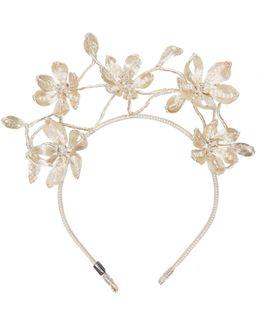 Mesh Pearl Primrose Headpiece