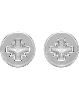 Phillips-head Screw Earrings Silver